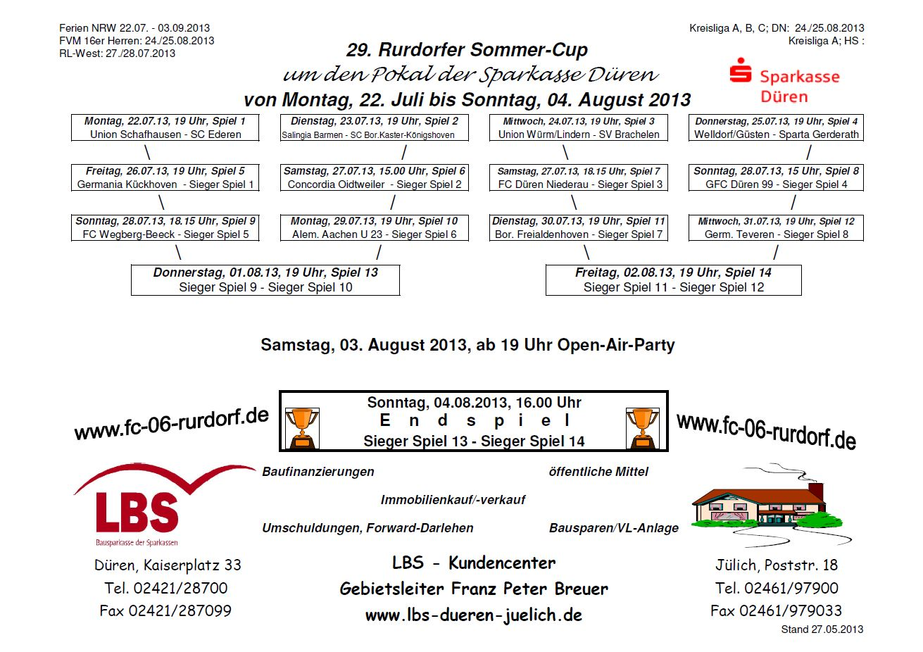 Rurdorfer Sommer-Cup 2013